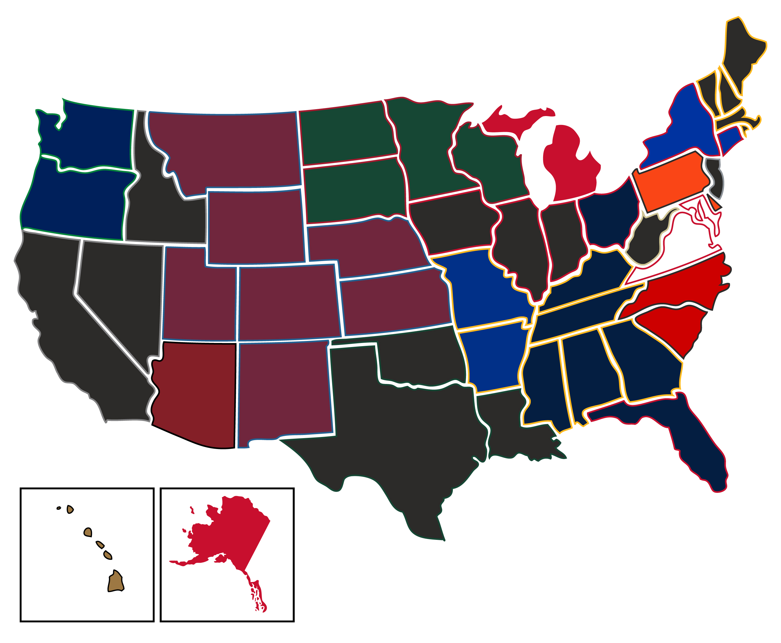 9ae182134db Most Popular NHL Teams By US State