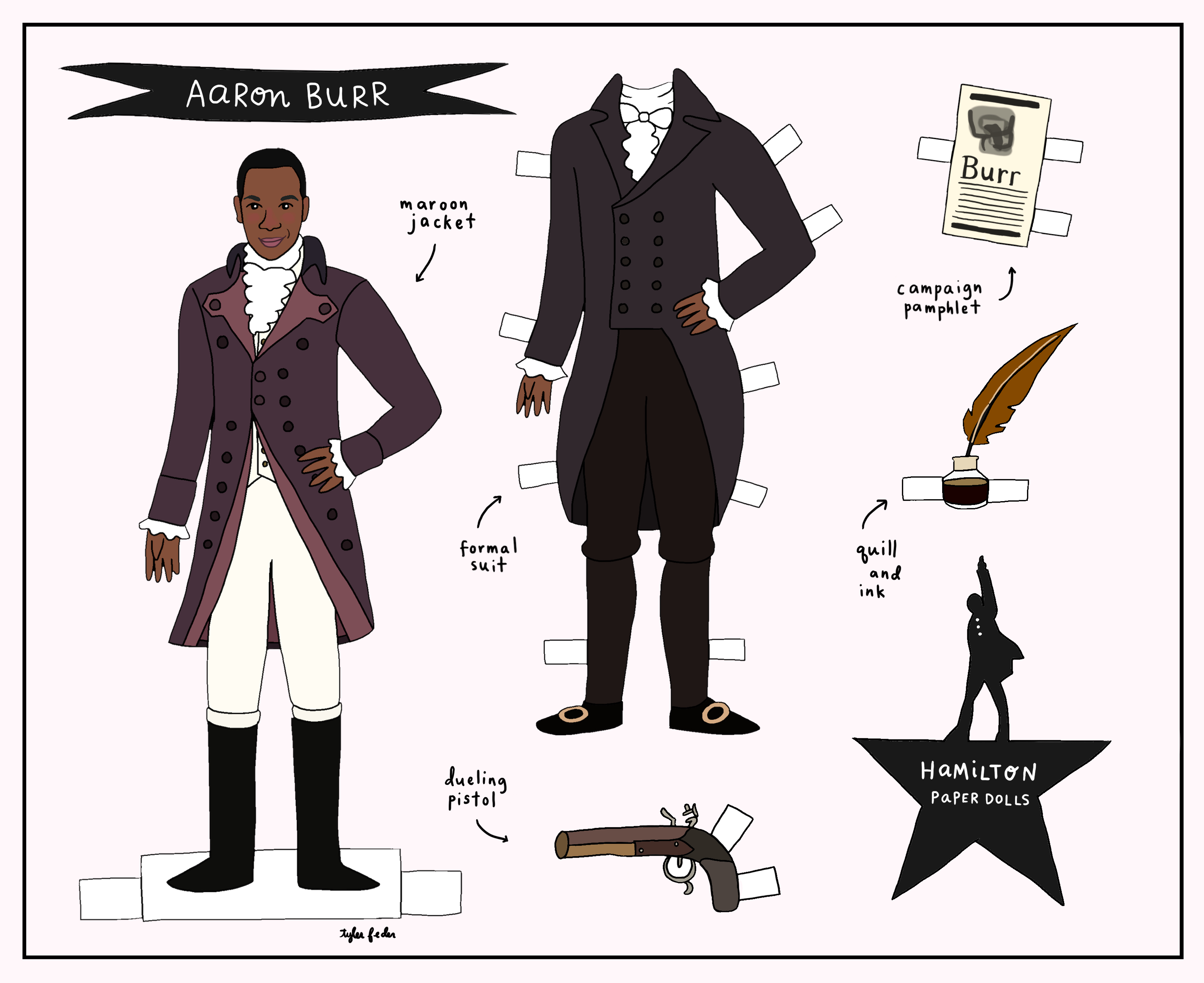 hamilton paper dolls for the hit broadway musical