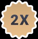 2x-badge