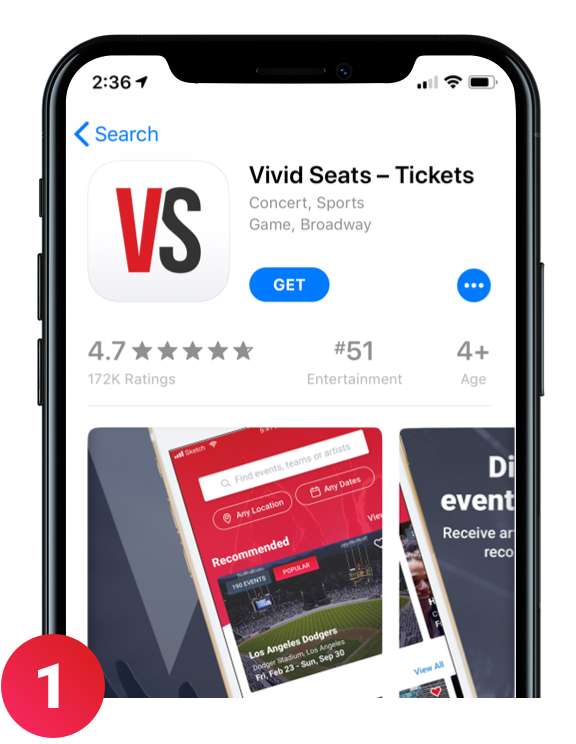 Get the latest version of the Vivid Seats app