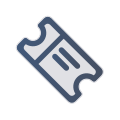 Ticket in hand icon